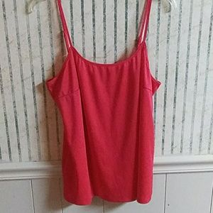 Faded Glory Red Tank Top Size XL